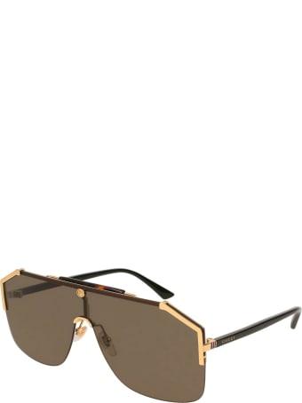 Gucci Gucci Gg0291s Havana Sunglasses
