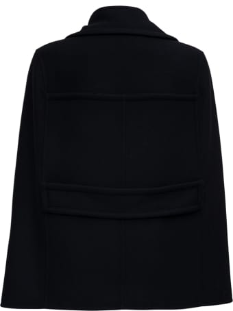 Valentino Diagonal Double Wool Caban Look23