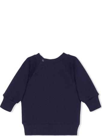 Gucci Dark Blue Felted Cotton Jersey Sweatshirt