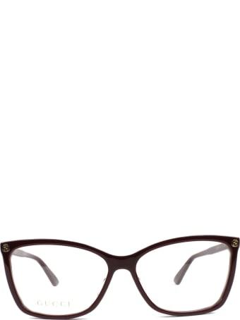 Gucci Gucci Gg0025o Burgundy Glasses