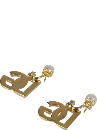 Dolce & Gabbana Dg Logo Pearl Earrings