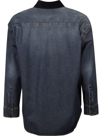 Dolce & Gabbana Logo Patch Checked Shirt