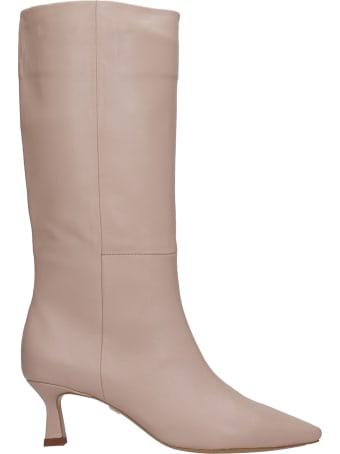Lola Cruz High Heels Boots In Powder Leather
