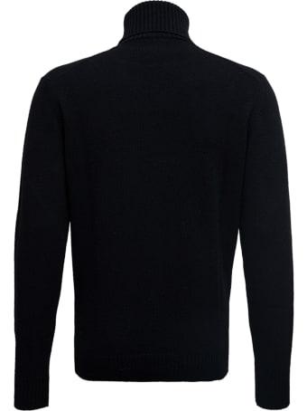 Roberto Collina Black High Collar  Wool Blend Sweater