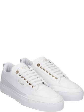 Mason Garments Torino Sneakers In White Leather