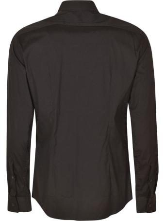 Les Hommes Slim Fit Insert Details Shirt