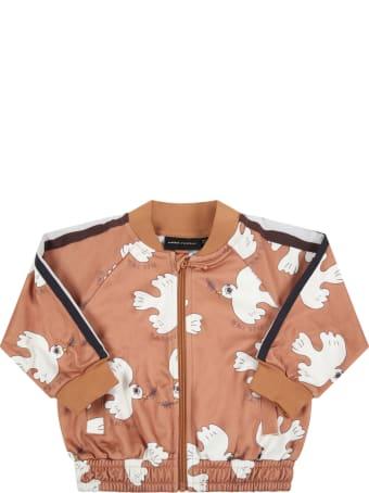 Mini Rodini Brown Sweatshirt For Babykids With White Doves