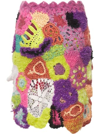 Marco Rambaldi Multicolour Crochet Knit Mini Skirt