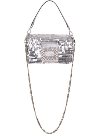 Gedebe My Love Small Bag With Silver Sequins