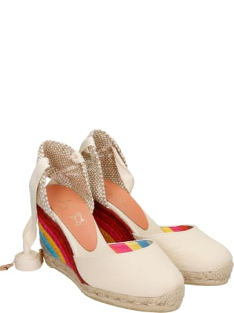 Castañer by Paul Smith Carina Ps 8-001 Wedges In Beige Canvas