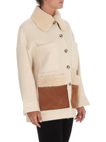 Ava Adore Jacket Coat With Sheepskin Pockets And Collar
