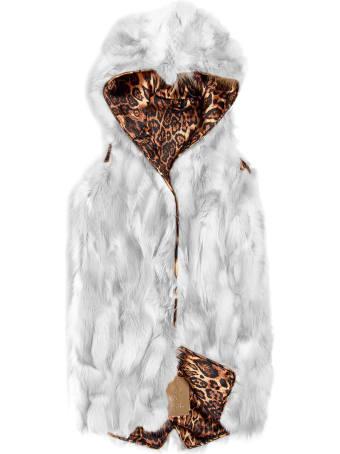 Mr & Mrs Italy Reversible Midi Yeti Waistcoat White Mamba