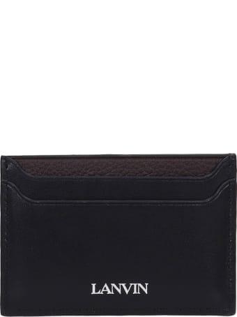 Lanvin Wallet In Black Leather