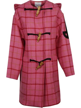 Patou Duffle Check Coat