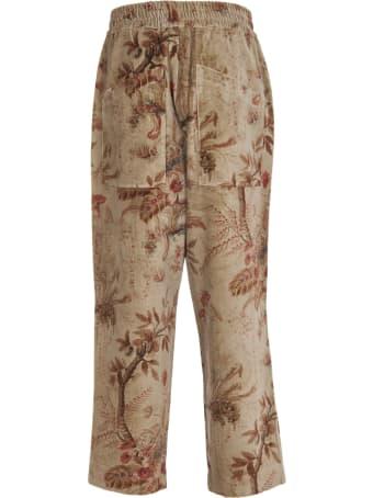 Pierre-Louis Mascia Floral Print Cotton Trousers