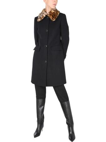 Anna Molinari Coat With Logo Buttons
