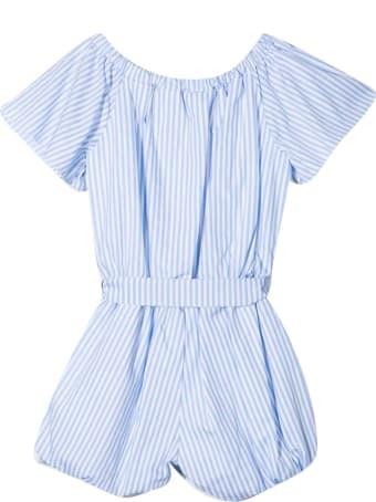 Miss Blumarine Striped Short Jumpsuit
