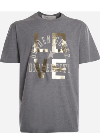 Golden Goose Cotton T-shirt With Love Print