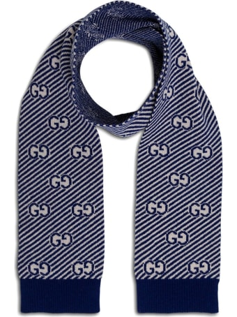 Gucci Wool Scarf With Logo