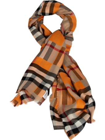 Burberry Giant Checkerboard Double Faced Lightweight Cashmere Scarf