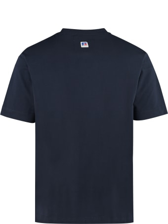 Russell Athletic Cotton Crew-neck T-shirt - Boss X Russell Athletic