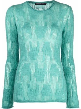 Marco Rambaldi Green Mohair And Wool Sweater