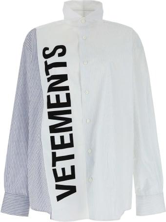 VETEMENTS Cut-up Logo Shirt