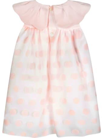 La stupenderia Pink Dress For Babygirl