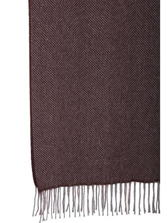 Corneliani brown cashmere scarf