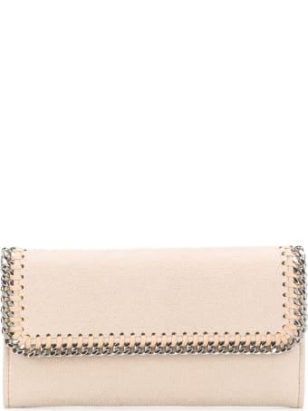Stella McCartney Beige And Sliver Continental Falabella Wallet