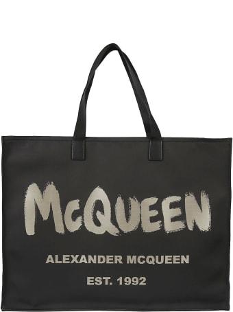 Alexander McQueen Paint Logo Shopper Bag