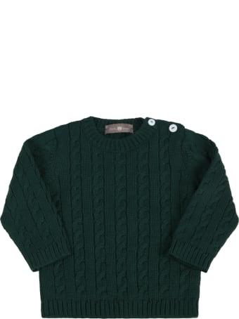 Little Bear Green Sweater For Baby Kids