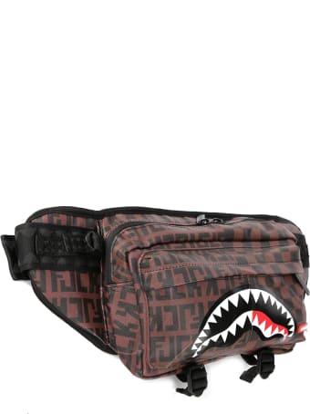Sprayground Shark Check Pattern Belt Bag