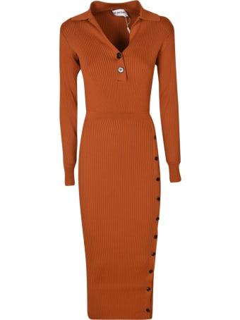self-portrait Ribbed Knit Midi Dress
