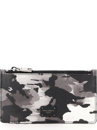 Dolce & Gabbana Zipped Camouflage Card Holder