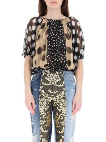 Dolce & Gabbana Patchwork Chiffon Blouse