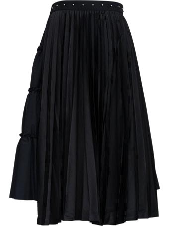 Noir Kei Ninomiya Long Asymmetrical Wool Blend Skirt