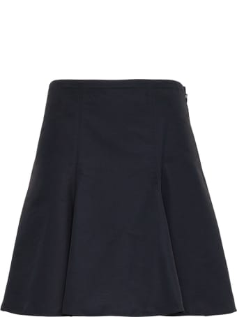 Valentino Black Micro Faille Skirt