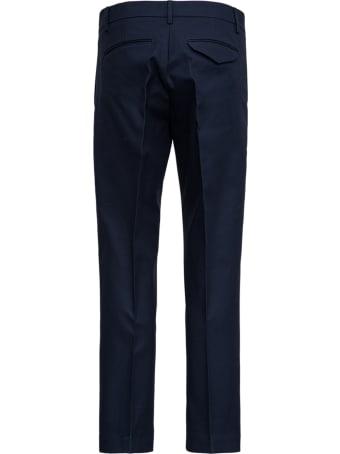 costumein Blue Tailored Cotton Gabardine Trousers