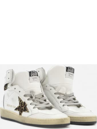 Golden Goose Sky-star Sneakers In Leather With Pony Skin Inserts