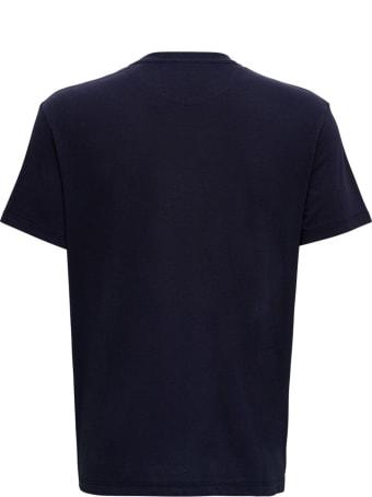 Valentino Blue Cotton T-shirt With Logo