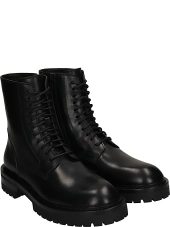 Ann Demeulemeester Alec Combat Boots In Black Leather
