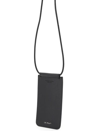 Off-White Necklace Pouch Diag Print