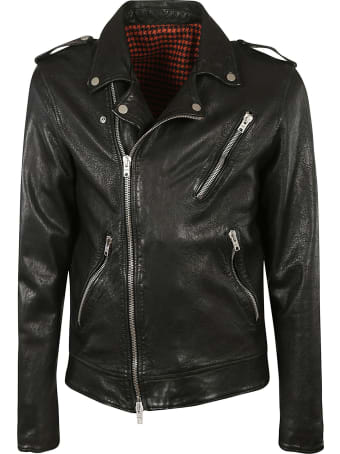 DFour Regular Plain Biker Jacket