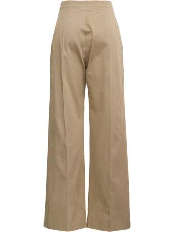 Patou Beige Cotton Gabardine Pants