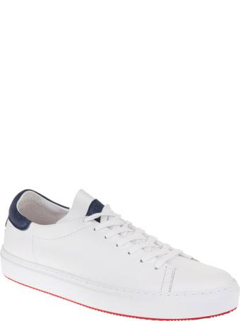 Andrea Ventura Man White And Navy Blue Giannutri Sneakers