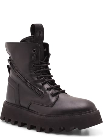 Bruno Bordese 'pray' Leather Ankle Boots