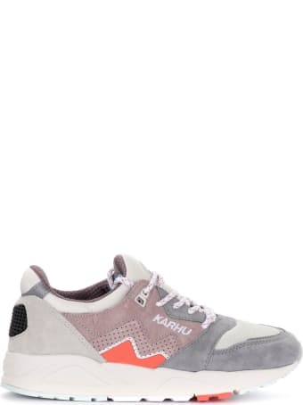 Karhu Aria Sneakers In Suede And Gray And Beige Fabric