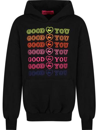 IRENEISGOOD Black Sweatshirt For Girl With Writings