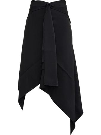 Givenchy Black Asymmetrical  Viscose Blend Skirt